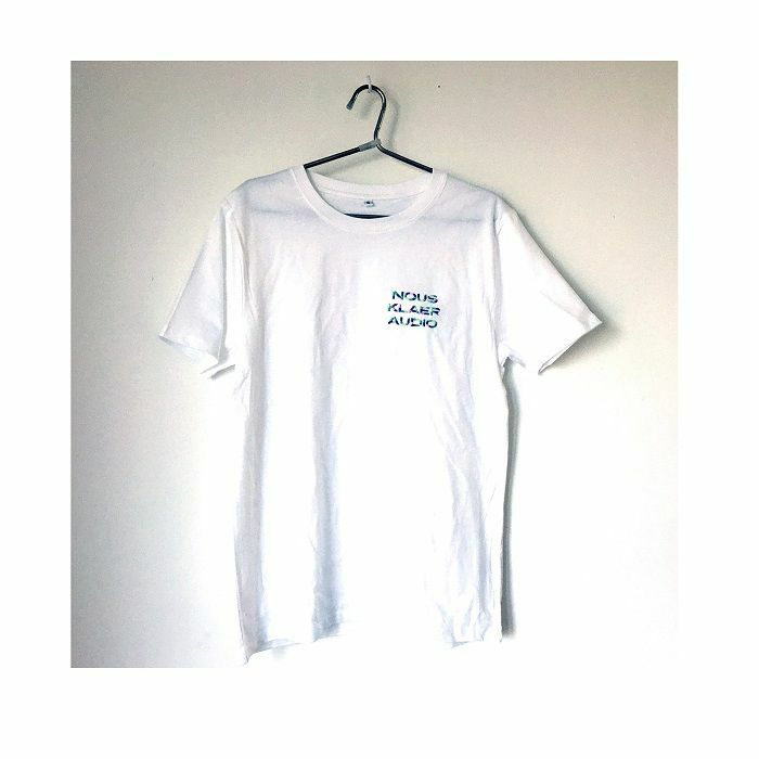 NOUS KLAER AUDIO - Nous Klaer Audio White T-shirt With Embroidered Multicolour Logo (large)