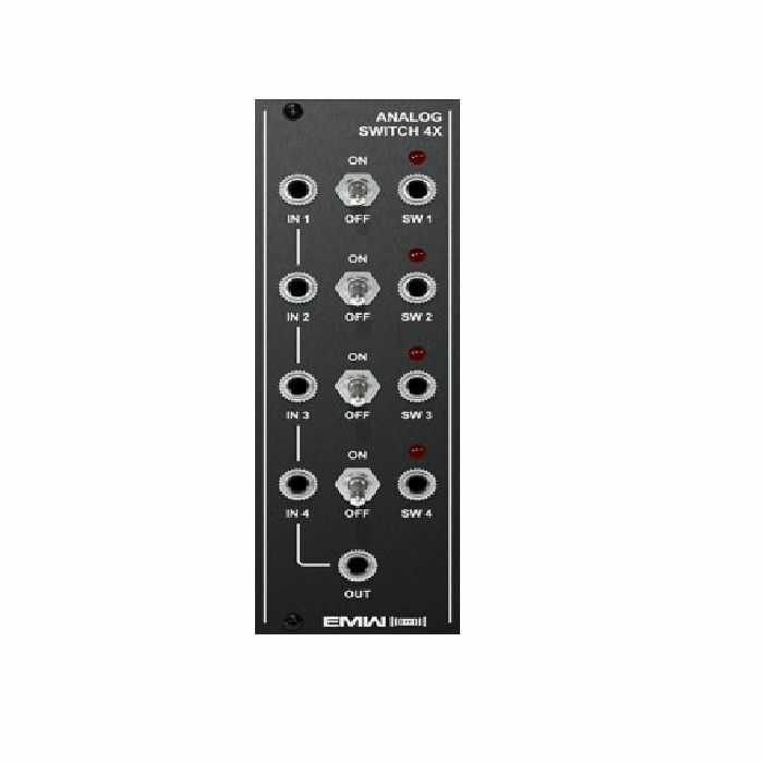 EMW - EMW Analogue Switch 4X Module (black faceplate)