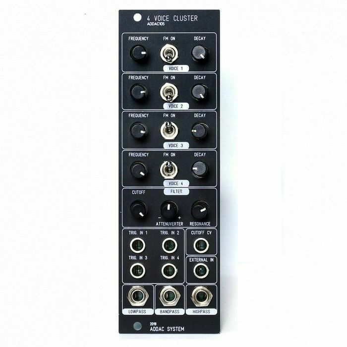 ADDAC SYSTEM - ADDAC System ADDAC105 4 Voice Cluster Module (black faceplate)