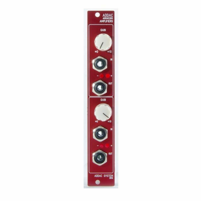ADDAC SYSTEM - ADDAC System ADDAC202 Amplifiers Module (red faceplate)
