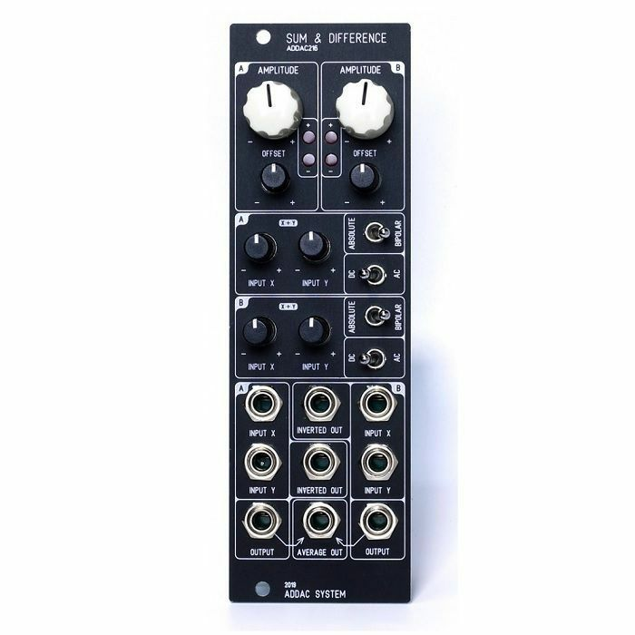ADDAC SYSTEM - ADDAC System ADDAC216 Sum & Difference Module (black faceplate)
