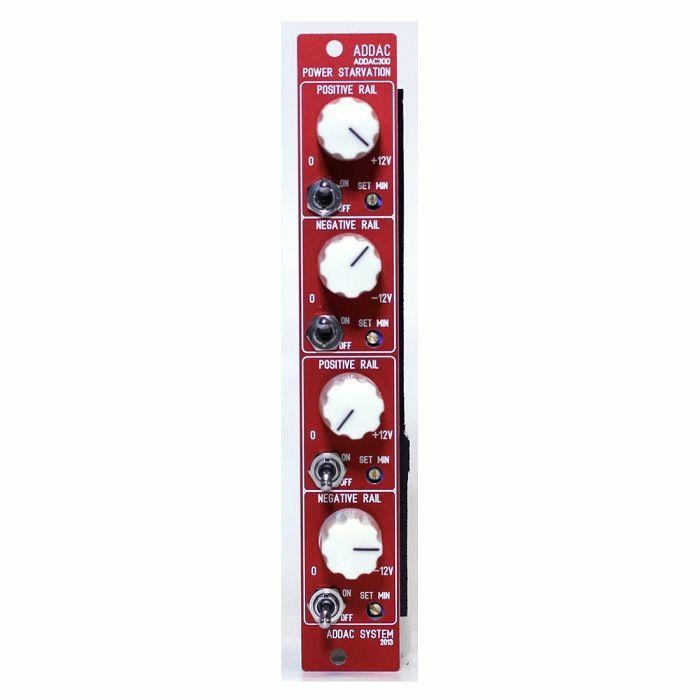 ADDAC SYSTEM - ADDAC System ADDAC300 Power Starvation Module (150mA version) (red faceplate)