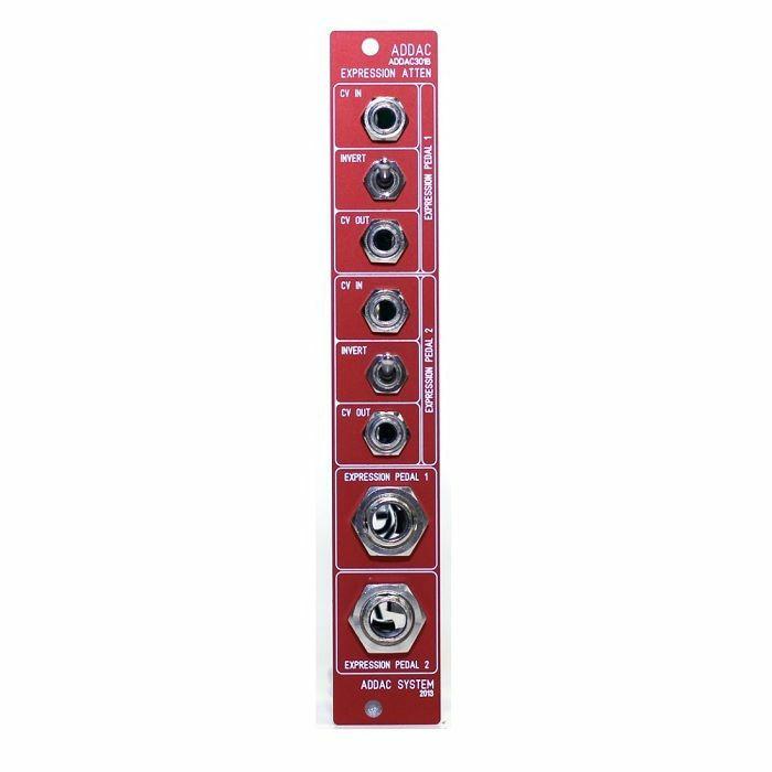 ADDAC SYSTEM - ADDAC System ADDAC301B Dual Expression Pedal Attenuator Module (red faceplate)