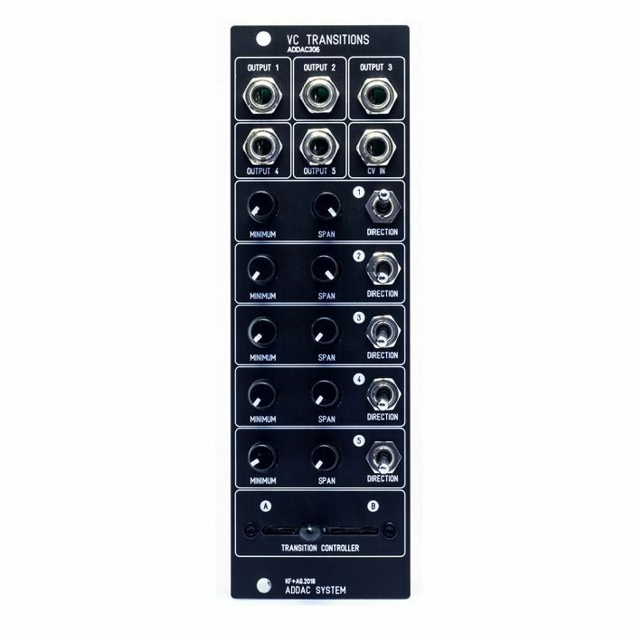 ADDAC SYSTEM - ADDAC System ADDAC306 VC Transitions Module (black faceplate)