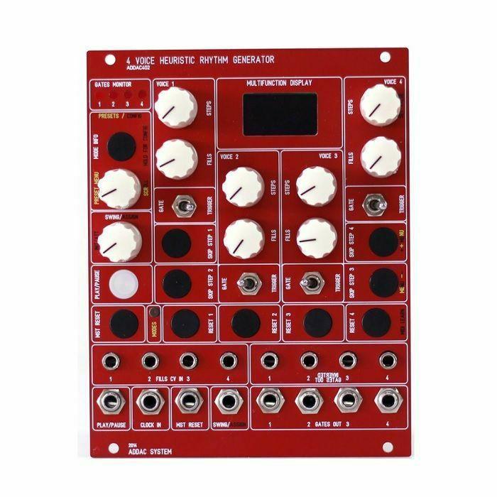 ADDAC SYSTEM - ADDAC System ADDAC402 Heuristic Rhythm Generator Module (red faceplate)