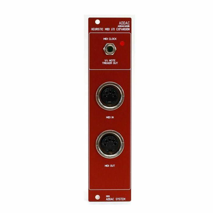 ADDAC SYSTEM - ADDAC System ADDAC402B Heuristic I/O Expansion Module (red faceplate)