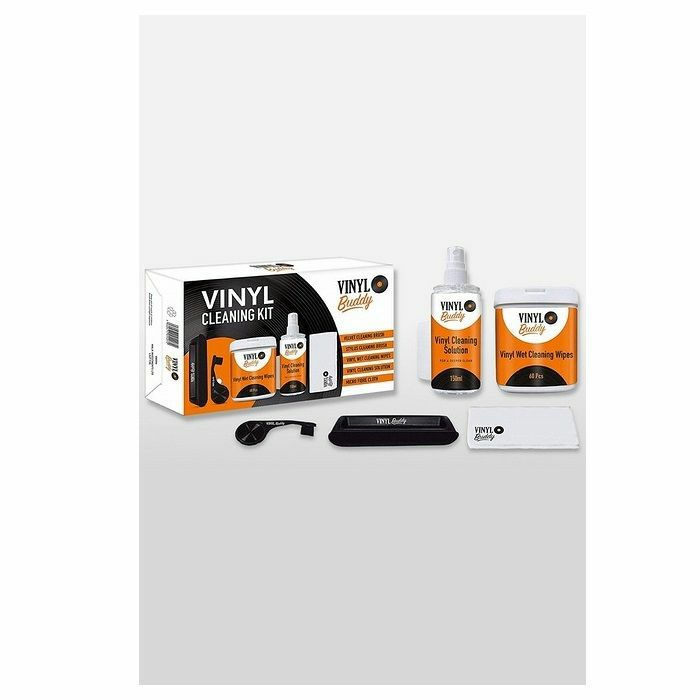 VINYL BUDDY - Vinyl Buddy 12 Inch Vinyl Record Cleaning Kit With Brush, Cloth, Wet Wipes & Cleaning Solution