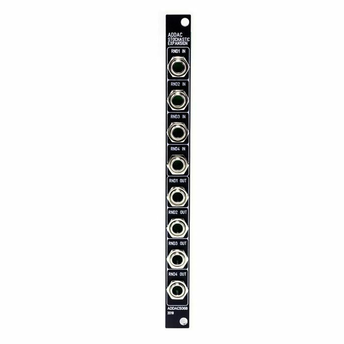 ADDAC SYSTEM - ADDAC System ADDAC506B VC Stochastic Function Generator Expansion Module (black faceplate)