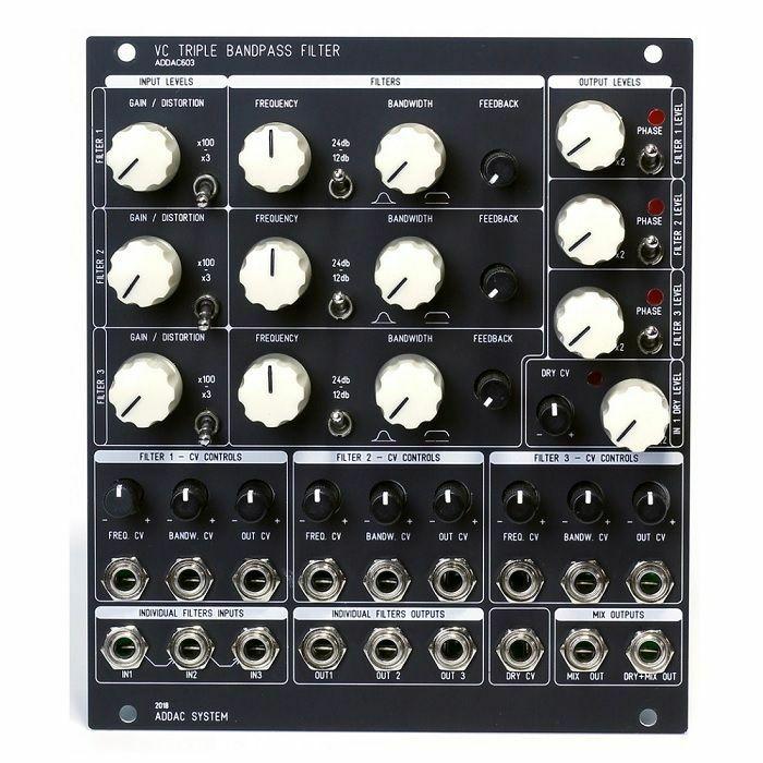 ADDAC SYSTEM - ADDAC System ADDAC603 VC Triple Bandpass Filter Module (black faceplate)
