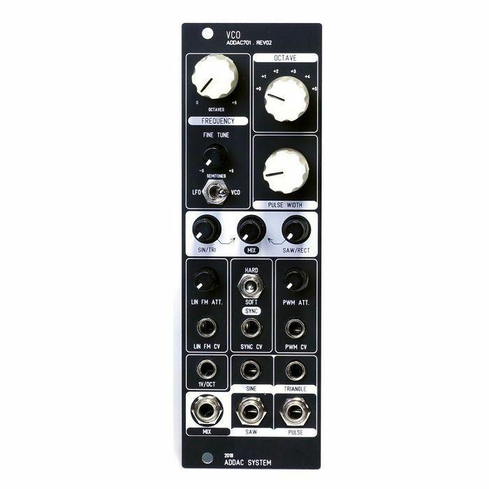 ADDAC SYSTEM - ADDAC System ADDAC701.REV2 VCO Module (black faceplate)
