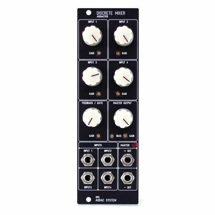 ADDAC SYSTEM - ADDAC System ADDAC703 Discrete Mixer Module (black faceplate)