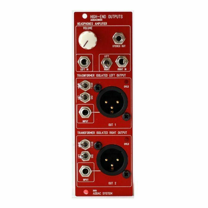 ADDAC SYSTEM - ADDAC System ADDAC800X High-End Outputs Module (red faceplate)