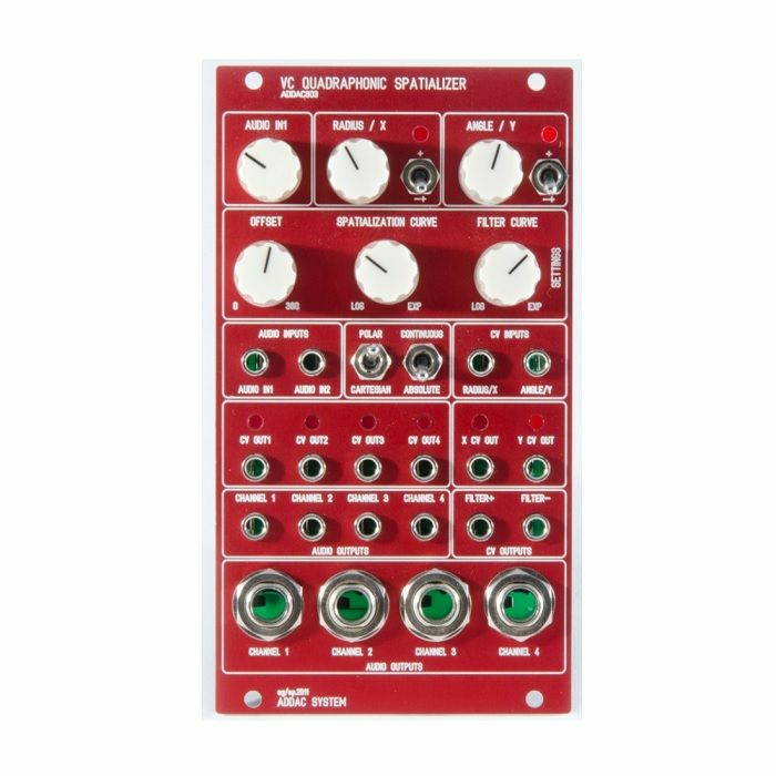 ADDAC SYSTEM - ADDAC System ADDAC803 Quadraphonic Spatializer Module (red faceplate)