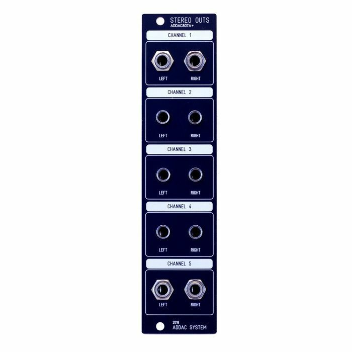 ADDAC SYSTEM - ADDAC System ADDAC807A+ Individual Channel Stereo Outputs Module (black faceplate)