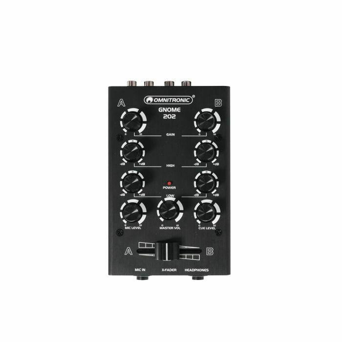 OMNITRONIC - Omnitronic Gnome 202 Mini DJ Mixer (black) (B-STOCK)