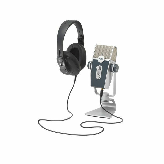 AKG - AKG Podcaster Essentials (includes AKG Lyra, AKG K371, Ableton Live 10 Lite, Berkeley online introductory recording course & interconnecting cables)