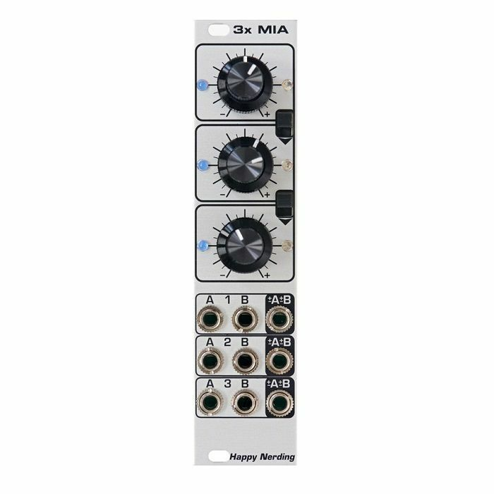 HAPPY NERDING - Happy Nerding 3x MIA Six Channel Attenuverting Mixer Offset Scale Polarizer Module (silver faceplate)
