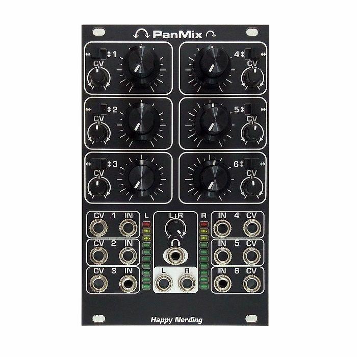 HAPPY NERDING - Happy Nerding PanMix Six Channel Mixer Module (black faceplate)