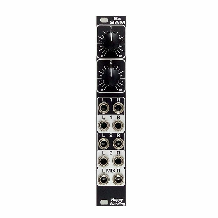 HAPPY NERDING - Happy Nerding 2x SAM Dual Stereo Attenuator Mixer Module (black faceplate)