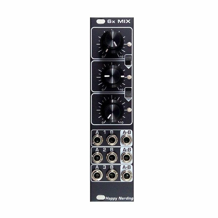 HAPPY NERDING - Happy Nerding 6x MIX 6-Channel Audio Mixer Module (black faceplate)
