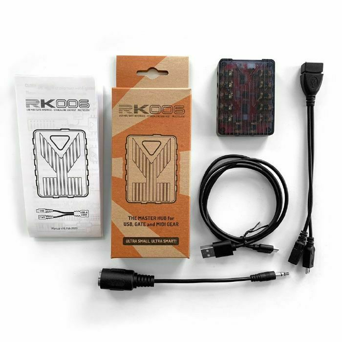 RETROKITS - Retrokits RK006 Portable USB MIDI & Gate Hub (dark translucent enclosure) (B-STOCK)