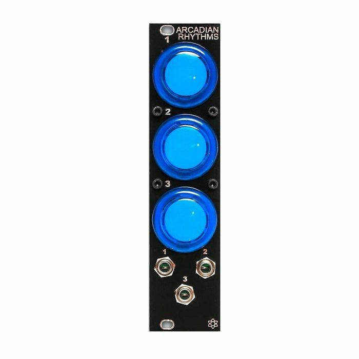 SYNTHROTEK - SynthRotek Arcadian Rhythms Module (black faceplate, blue buttons) (fully assembled)