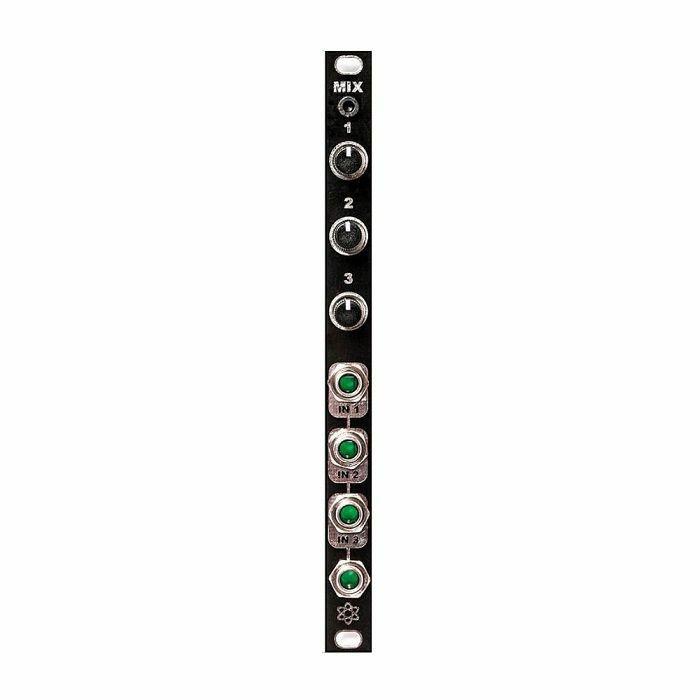 SYNTHROTEK - SynthRotek MIX Mixer Module (black faceplate) (fully assembled)