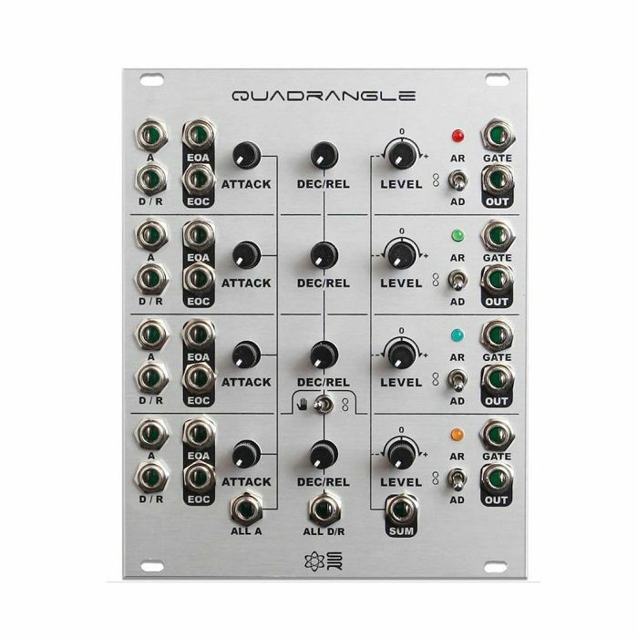SYNTHROTEK - SynthRotek Quadrangle Envelope Generator Module (silver faceplate) (fully assembled)