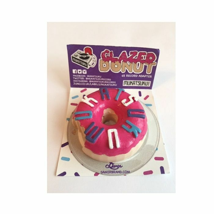 MUKATSUKU - Mukatsuku 3D Doughnut /Donut 45 Adapter (Strawberry Glazed With Multicoloured Sprinkles (Juno exclusive)