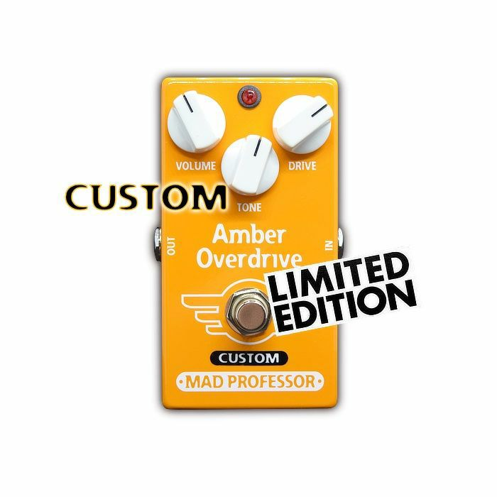 MAD PROFESSOR - Mad Professor Amber Overdrive With Midas Touch Mod Limited Edition Pedal