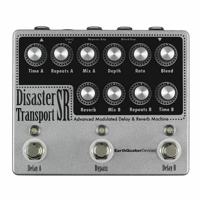 EARTH QUAKER DEVICES - Earth Quaker Devices Disaster Transport SR Advanced Modulated Delay & Reverb Machine Pedal