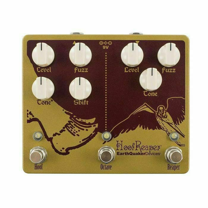 EARTH QUAKER DEVICES - Earth Quaker Devices Hoof Reaper V2 Double Fuzz With Octave Up Pedal