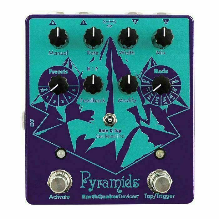 EARTH QUAKER DEVICES - Earth Quaker Devices Pyramids Stereo Flanging Device Pedal