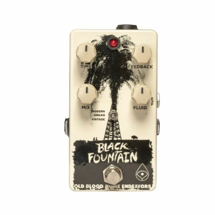 OLD BLOOD NOISE - Old Blood Noise Endeavors Black Fountain Oil Can Delay Pedal