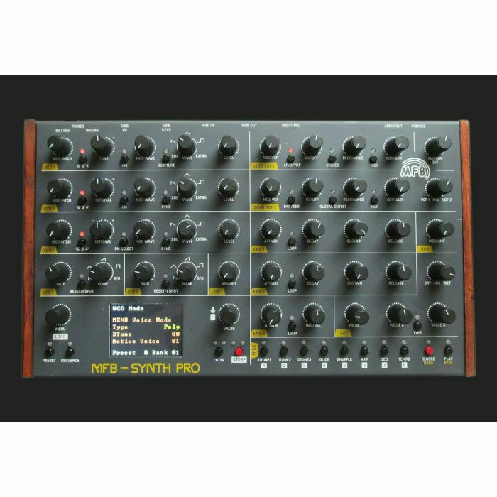 MFB - MFB Synth Pro Eight Part Analogue Polyphonic Desktop Synthesiser & Sequencer (B-STOCK)