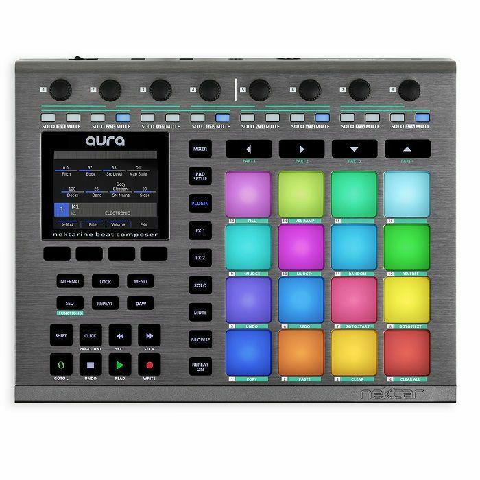 NEKTAR - Nektar Aura Beat Composer USB MIDI Pad Controller With Step Sequencer & Nektar DAW Integration (B-STOCK)