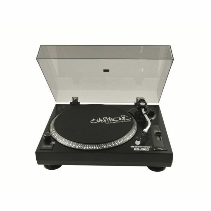 OMNITRONIC - Omnitronic BD1320 Belt Drive DJ Turntable (black) (B-STOCK)