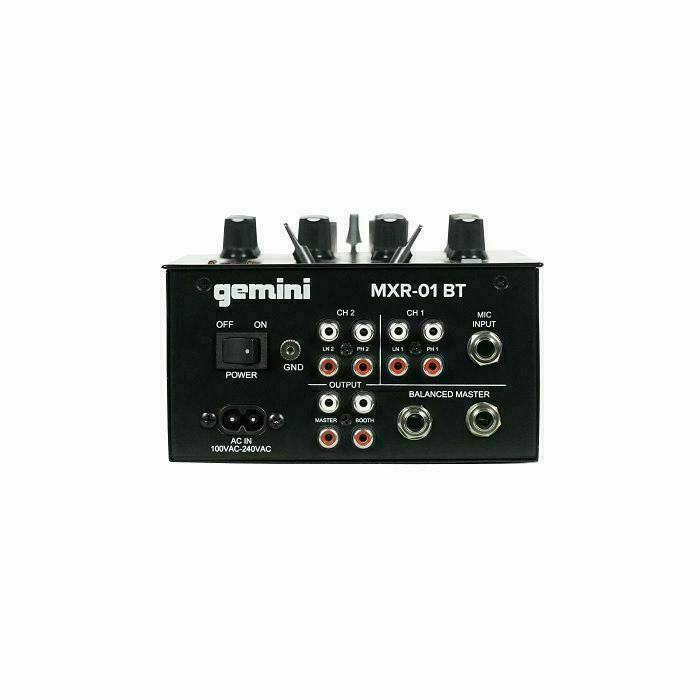 GEMINI - Gemini MXR-01BT 2 Channel DJ Mixer With Bluetooth