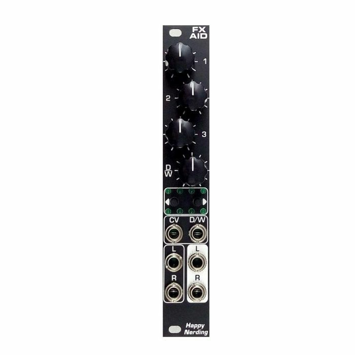 HAPPY NERDING - Happy Nerding FX AID Multiple Audio Effects Module (black faceplate)