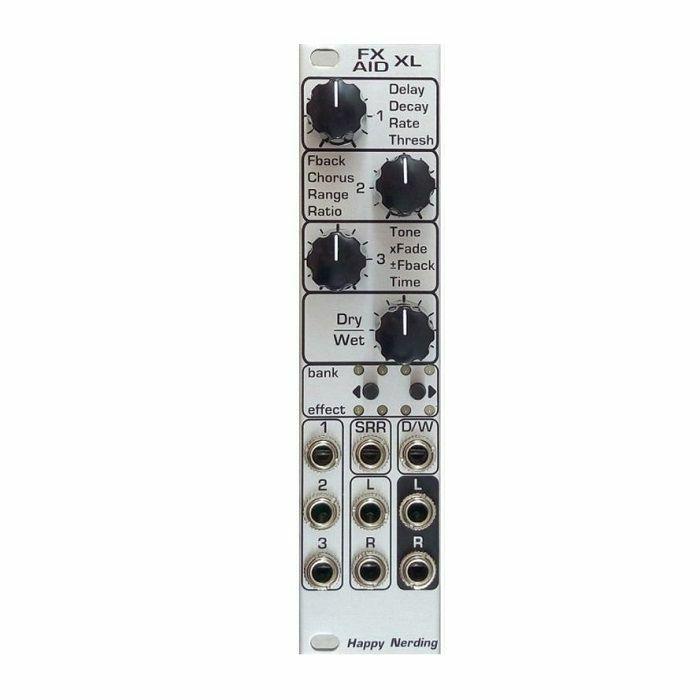 HAPPY NERDING - Happy Nerding FX AID XL Multiple Audio Effects Module (silver faceplate)
