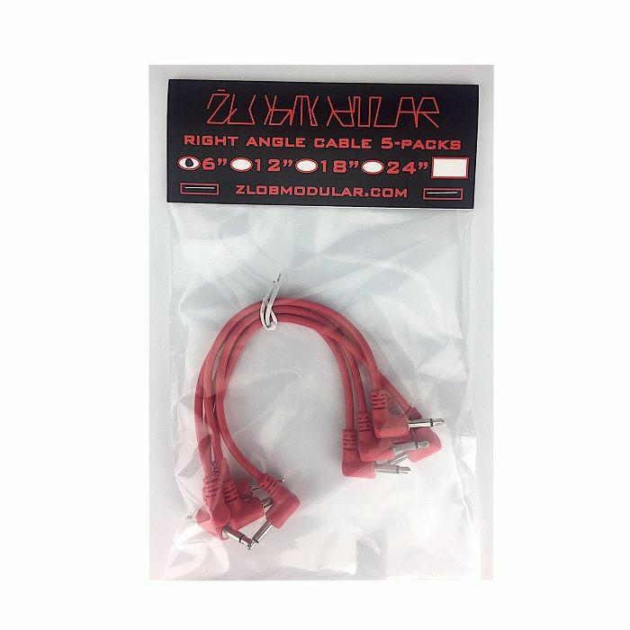 ZLOB MODULAR - Zlob Modular Red Right Angle Patch Cables (15cm, pack of 5)