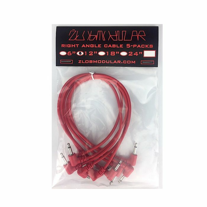 ZLOB MODULAR - Zlob Modular Red Right Angle Patch Cables (30cm, pack of 5)