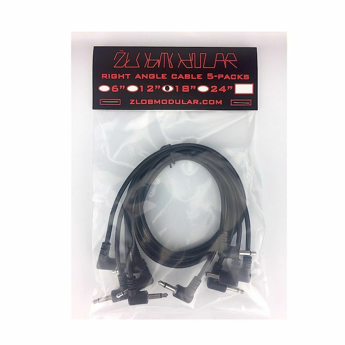 ZLOB MODULAR - Zlob Modular Black Right Angle Patch Cables (45cm, pack of 5)