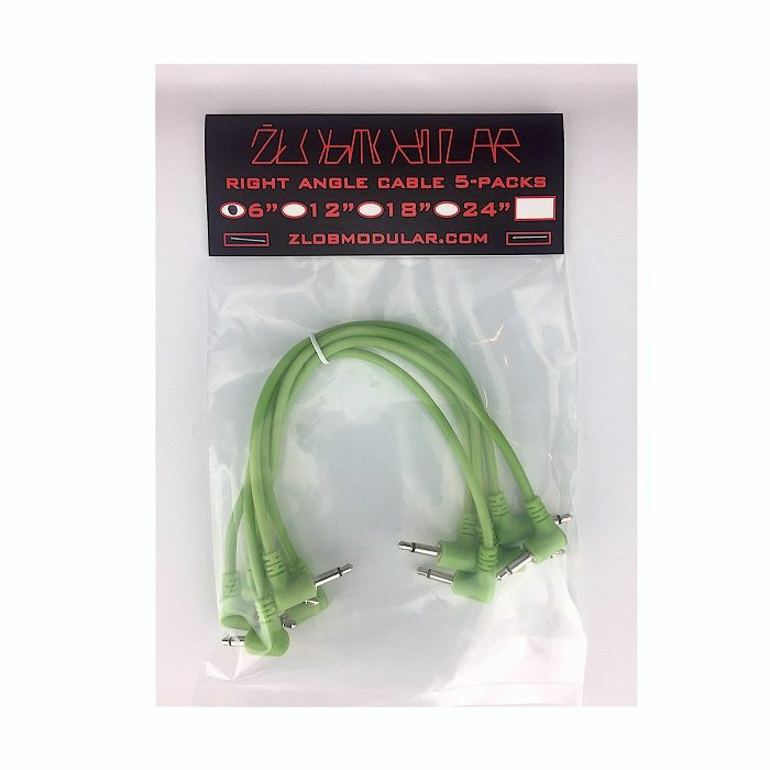 ZLOB MODULAR - Zlob Modular Glow In The Dark Right Angle Patch Cables (15cm, pack of 5)