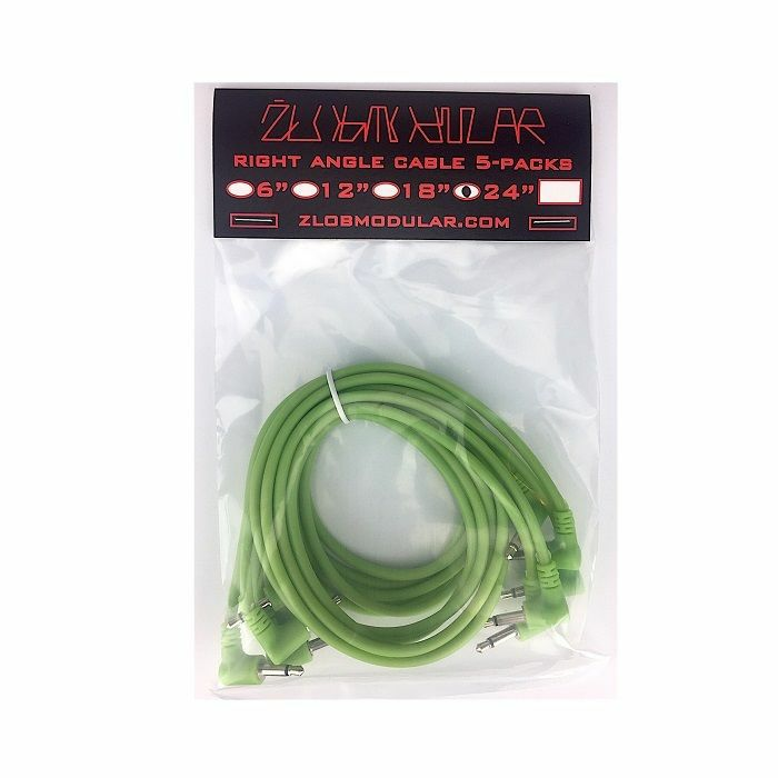 ZLOB MODULAR - Zlob Modular Glow In The Dark Right Angle Patch Cables (60cm, pack of 5)