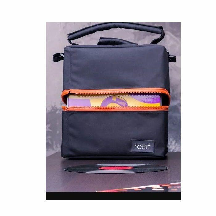 REKIT - Rekit 75 Vinyl Records Bag (orange zippers)