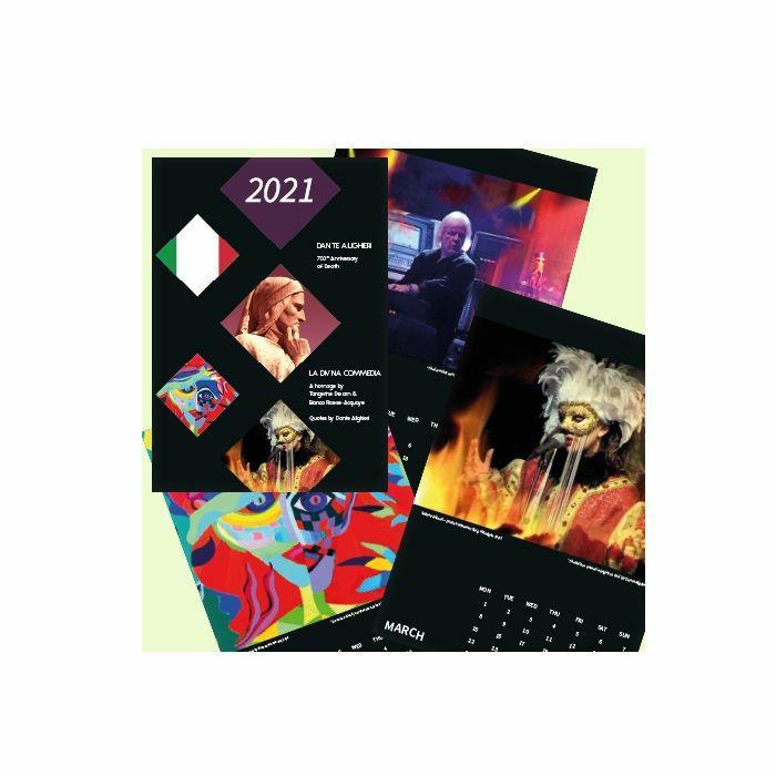 TANGERINE DREAM - Wall Calendar 2021: Dante Alighieri A Homage, by Tangerine Dream & Bianca Froese-Acquaye