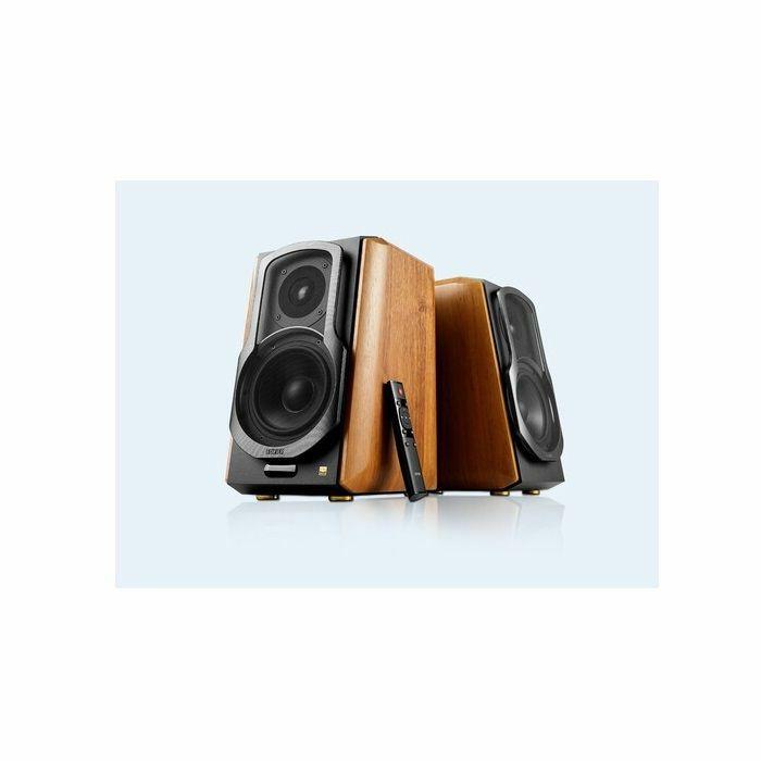 EDIFIER - Edifier 4004988 S1000DBMKII Bluetooth 5.0 Wireless Active Bookshelf Speakers (pair, brown)