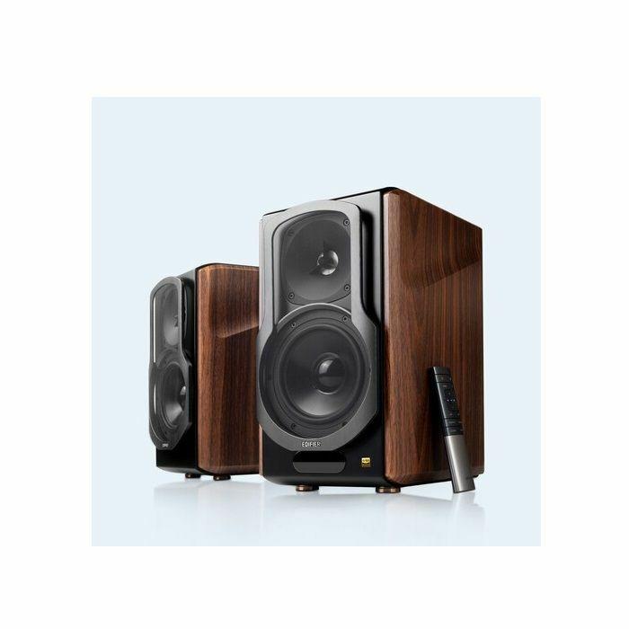 EDIFIER - Edifier 4004995 S2000MKIII Bluetooth 5.0 Wireless Bookshelf Speakers (pair, brown)