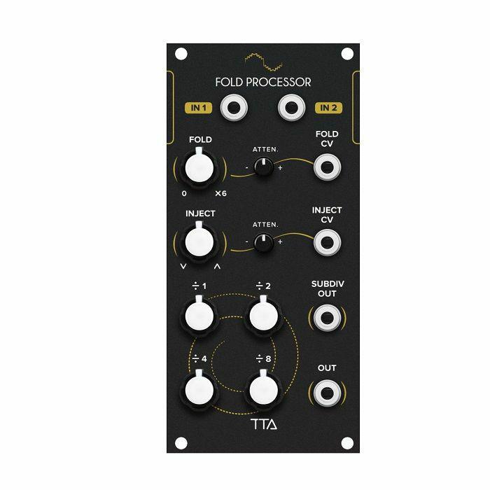 TIPTOP AUDIO - Tiptop Audio Fold Processor Wave Multiplier & Sub-Octave Generator Module (black faceplate)